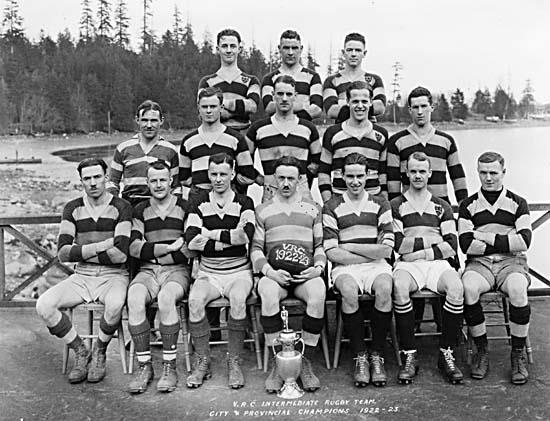 VRC intermediate Rugby Team - City and Provincial Champions 1922-23